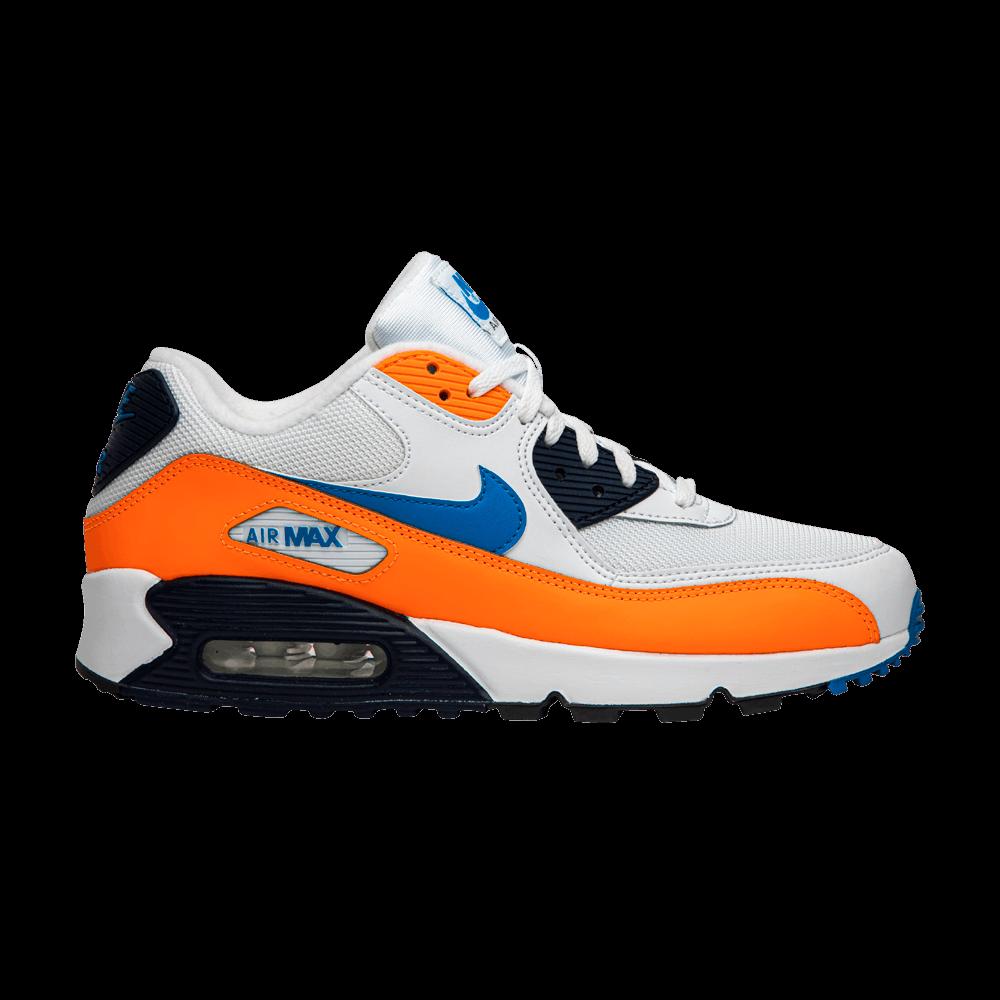 NEW 2019 Nike Air Max 90 WhiteTotal Orange Midnight Navy