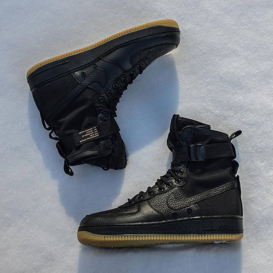 nike air force 1 sf black