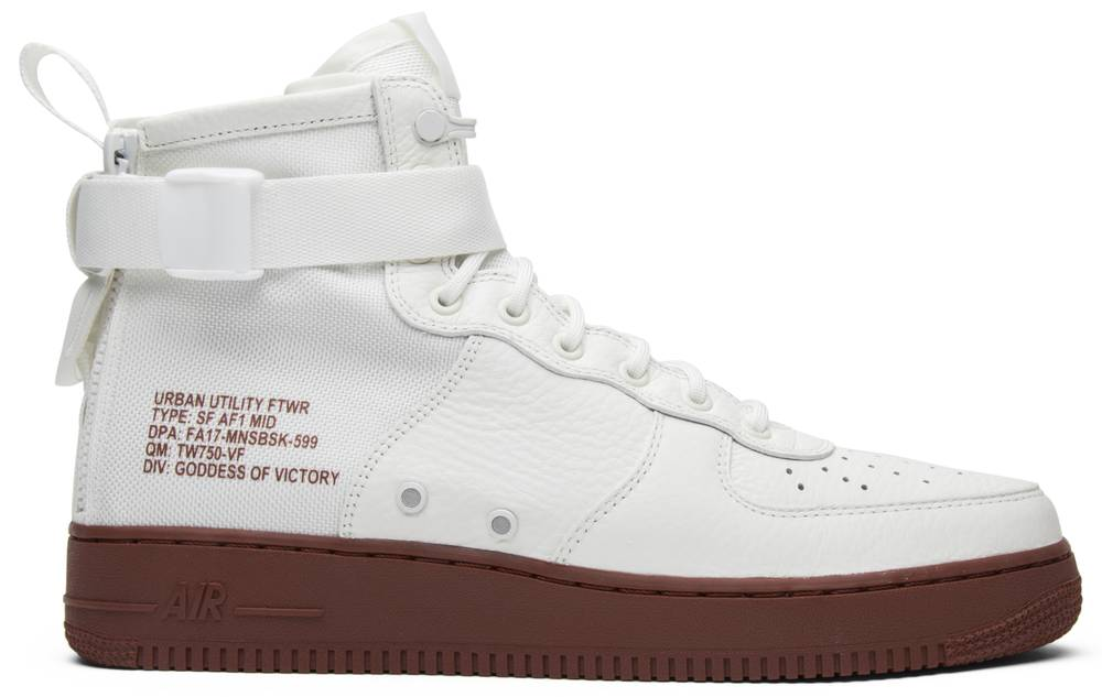 SF Air Force 1 Mid Red Ivory