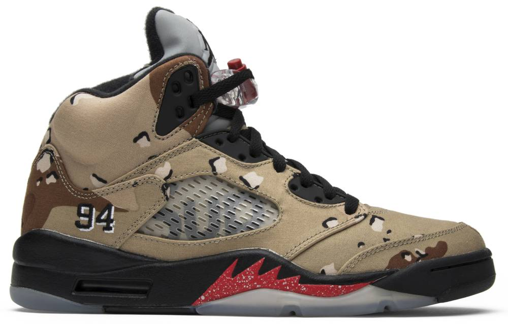 Supreme x Air Jordan 5 Retro Desert Camo