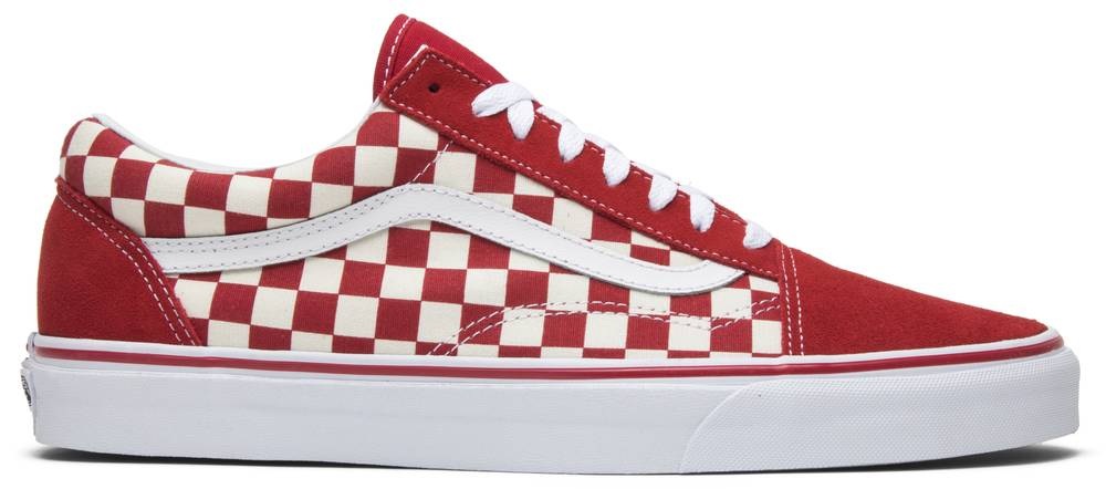 Old Skool Red Checkerboard Vans Vn0a38g1p0t Goat