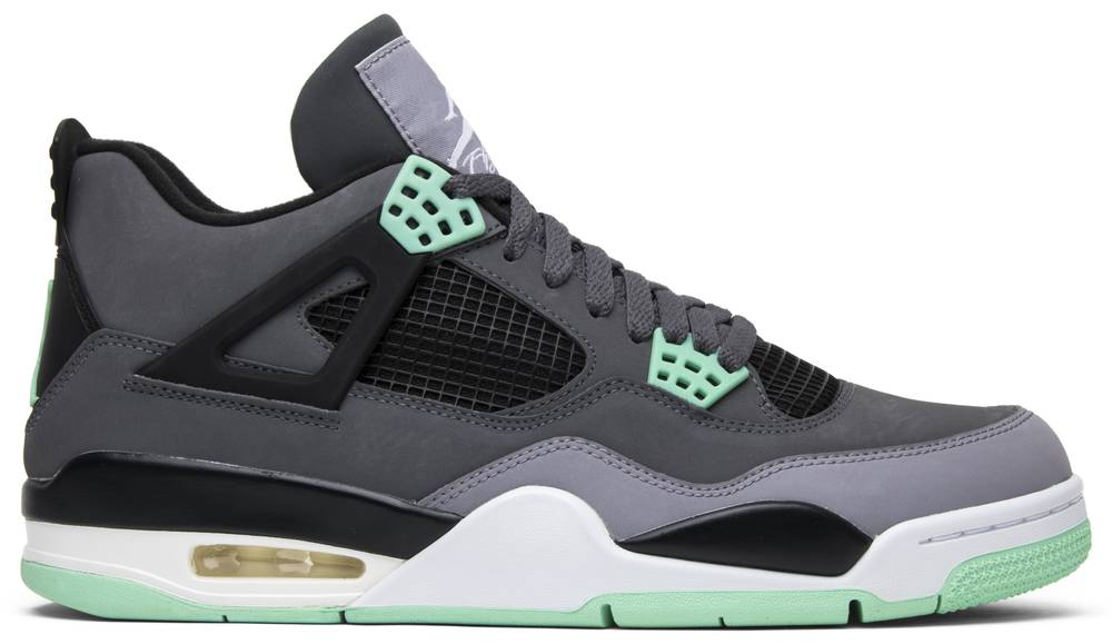 quality design 98826 b15d0 Air Jordan 4 Retro Green Glow ...