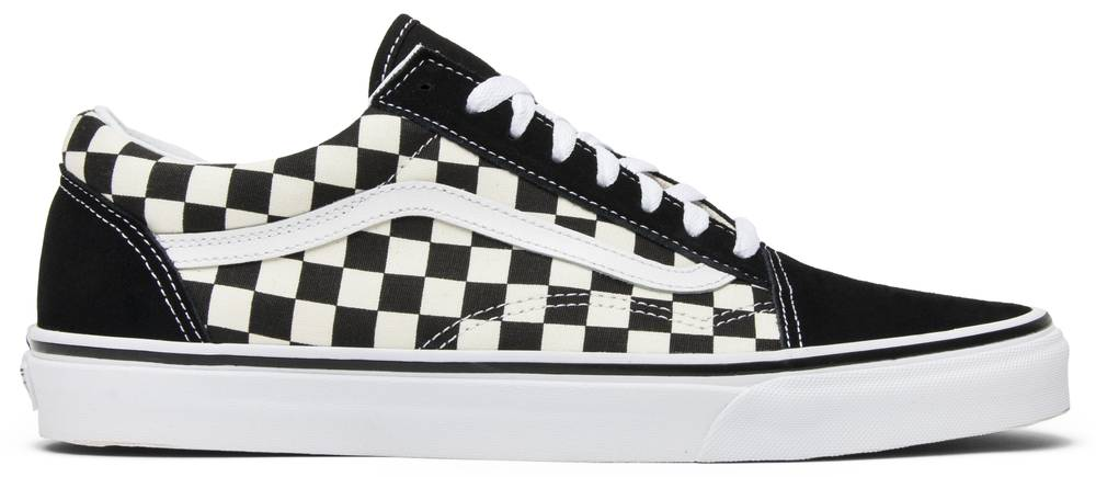 Old Skool Black Checkerboard Vans Vn0a38g1p0s Goat