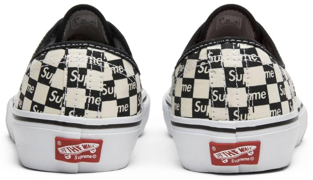 Supreme X Authentic Pro Checkered Black