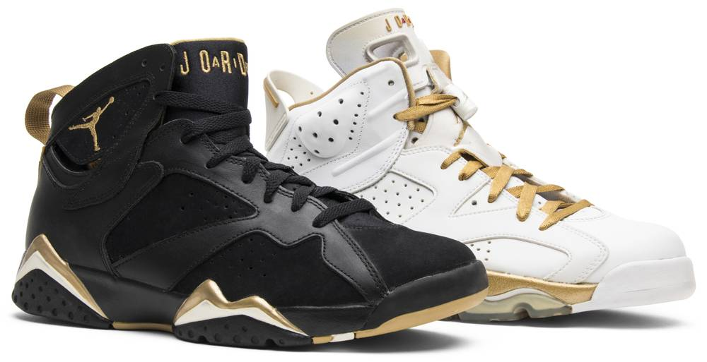 another chance 26671 41a07 ... italy air jordan 7 6 retro golden moments pack 129ff 4cc17