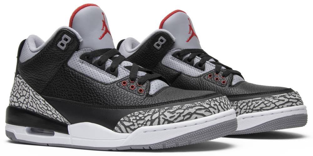 Air Jordan 3 Retro Og Black Cement 2018 Air Jordan 854262 001