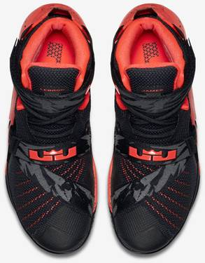 968ae6bc687d Zoom LeBron Soldier 9  Black Bright Crimson  - Nike - 749490 016