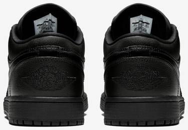 d8bb78b77778fa Air Jordan 1 Retro Low 'Triple Black' - Air Jordan - 553558 017   GOAT