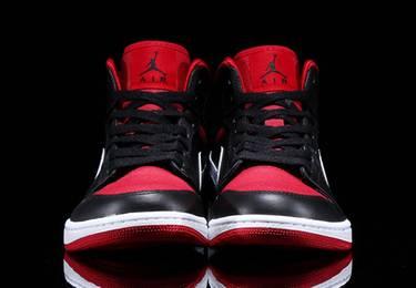 b14e74cbc1e Air Jordan 1 Mid 'Black Gym Red' - Air Jordan - 554724 020   GOAT