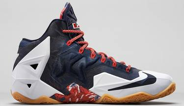 437ebf9b8802 LeBron 11  Independence Day  - Nike - 616175 164