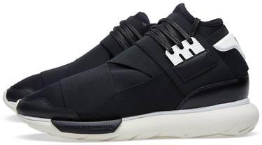 41c2ae0213408 Y-3 Qasa High  Black White  - adidas - B35673