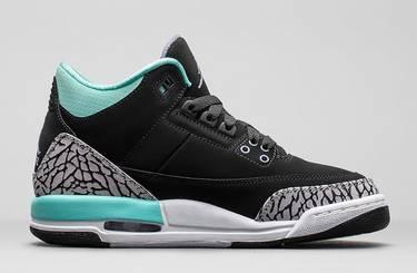 6571fe96eeffe1 Air Jordan 3 Retro GG  Black Mint  - Air Jordan - 441140 045