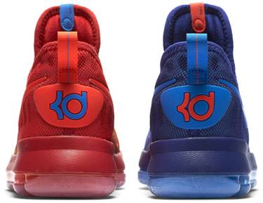 11603ca90bdc Zoom KD 9 GS  Fire and Ice  - Nike - 855908 400