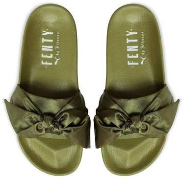 online retailer b5fc5 790bc Fenty x Wmns Bow Slide 'Olive'