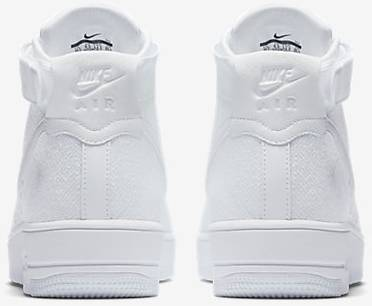 e40f534ba1a1 Air Force 1 Ultra Flyknit Mid  Triple White  - Nike - 817420 102