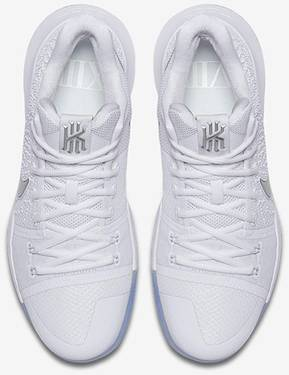 best service c4bbd b1ff0 Kyrie 3  White Chrome