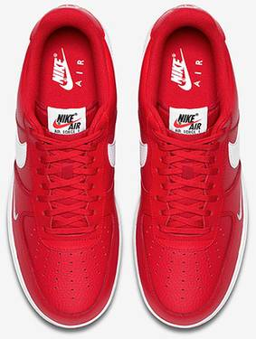 0742a125335a Air Force 1 Low Mini Swoosh  University Red  - Nike - 820266 606