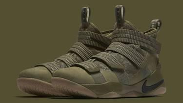889535daaee LeBron Soldier 11  Olive  - Nike - 897646 200