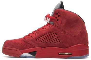 81b17424c03313 Air Jordan 5 Retro  Red Suede  - Air Jordan - 136027 602