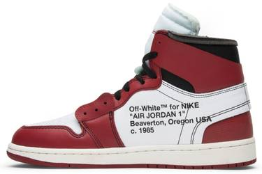 hot sale online b6603 91eae OFF-WHITE x Air Jordan 1 Retro High OG  Chicago