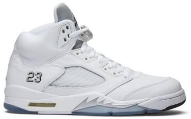 premium selection 46385 85416 Air Jordan 5 Retro 'Metallic White' 2015