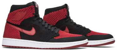 e340cf41b61e Air Jordan 1 Retro High OG Flyknit  Bred  - Air Jordan - 919704 001 ...