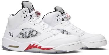 detailing 9d276 74265 Supreme x Air Jordan 5 Retro  White