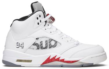 d5cdd7a5578 Supreme x Air Jordan 5 Retro 'White' - Air Jordan - 824371 101 | GOAT