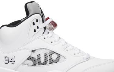 newest 0eb87 87366 Supreme x Air Jordan 5 Retro 'White'