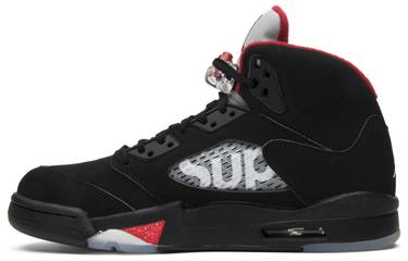 87ce7c9d2340 Supreme x Air Jordan 5 Retro  Black  - Air Jordan - 824371 001