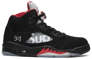 best service d76cc 8fda2 Supreme x Air Jordan 5 Retro  Black
