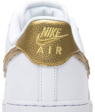 a0fb41f7 youth nike air force 1 cr7 white golden patchwork