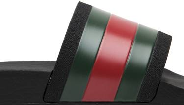 63642a9b4d1 Gucci Pursuit  72 Rubber Slide  Black  - Gucci - 308234 GIB10 1098 ...