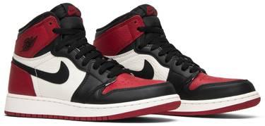 size 40 cd309 27cbb Air Jordan 1 Retro High OG BG 'Bred Toe'