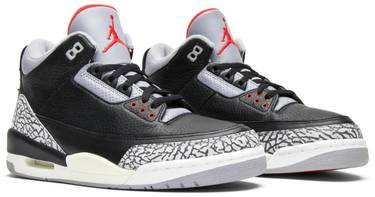 new arrivals 9371e a7b54 Air Jordan 3 Retro 'Black Cement' 2001