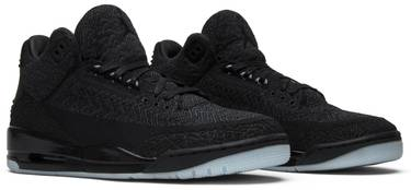 52803a1938d0d Air Jordan 3 Retro Flyknit  Black  - Air Jordan - AQ1005 001