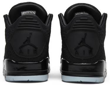 e9a012883258 Air Jordan 3 Retro Flyknit  Black  - Air Jordan - AQ1005 001