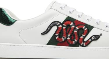 bb8f898788c Gucci Ace Embroidered  Snake  - Gucci - 456230 A38G0 9064