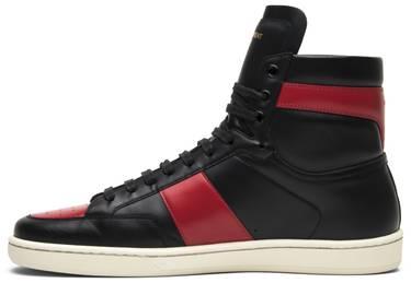 7d6866663bb4 Saint Laurent SL-10 High Top Sneaker  Red  - Saint Laurent - 418026 ...