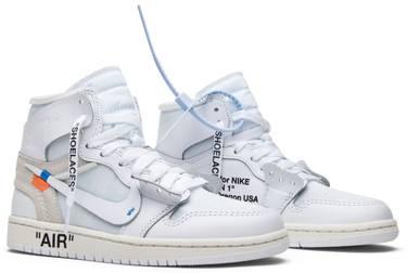 reputable site ffb76 1fd7b OFF-WHITE x Air Jordan 1 Retro High OG BG 'White' 2018