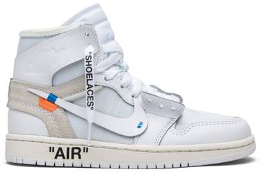 55493724f480 OFF-WHITE x Air Jordan 1 Retro High OG BG  White  2018 - Air Jordan ...