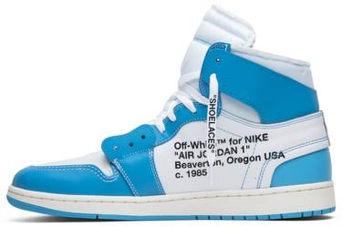 in stock a2be2 87ced OFF-WHITE x Air Jordan 1 Retro High OG 'UNC'