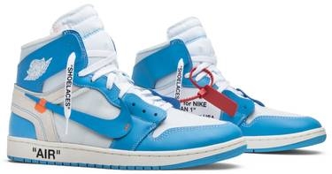 in stock 622e9 5fe52 OFF-WHITE x Air Jordan 1 Retro High OG 'UNC'