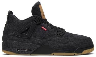 check out d75cd df472 Levi's x Air Jordan 4 Retro 'Black Denim'