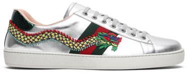 f788c62ef Gucci Ace Embroidered 'Silver Dragon' - Gucci - 473765 DMKE0 8169 | GOAT