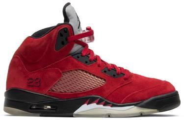 info for db660 a42ba Air Jordan 5 Retro 'Raging Bull Red Suede'