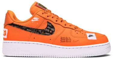 d27581039c43a Air Force 1 Low  Just Do It . Nike s signature orange ...