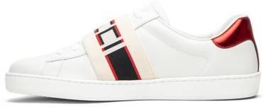 Gucci Stripe Leather Sneaker 'White Red Black'