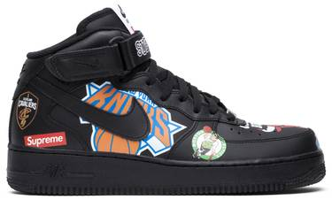 on sale 94701 599f6 Supreme x NBA x Air Force 1 Mid 07 'Black'