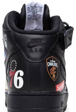 check out d8949 ef833 Supreme x NBA x Air Force 1 Mid 07  Black